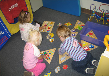 1 to 2 year olds at SPELC mastering basic skills